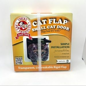 """Other - IDEAL PET PRODUCTS Small cat door w/flap 6"""" square"""
